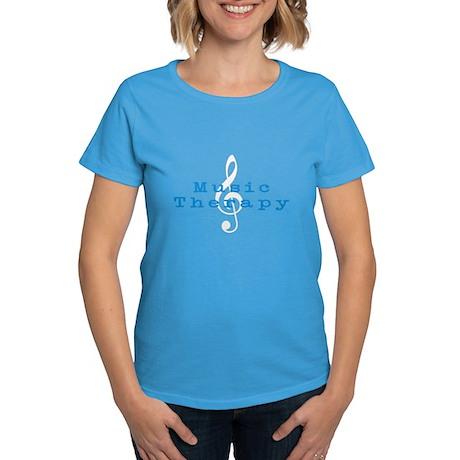 Music Therapy Women's Dark T-Shirt