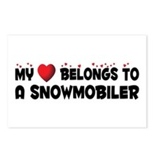 Belongs To A Snowmobiler Postcards (Package of 8)