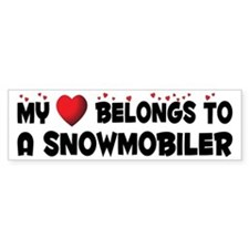 Belongs To A Snowmobiler Bumper Bumper Sticker