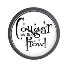 Cougar On The Prowl Wall Clock