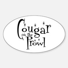 Cougar On The Prowl Oval Decal