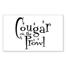 Cougar On The Prowl Rectangle Decal