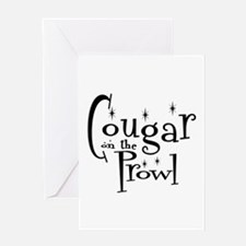 Cougar On The Prowl Greeting Card