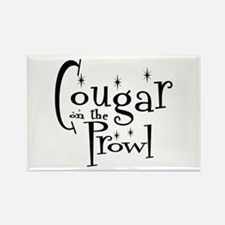Cougar On The Prowl Rectangle Magnet