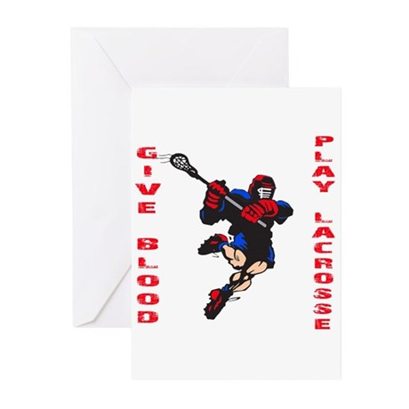Lacrosse Give Blood II Greeting Cards (Pk of 10)
