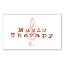 Music Therapy Rectangle Decal