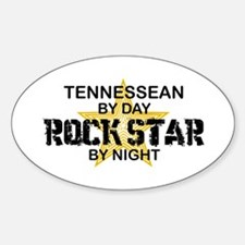 Tennessean Rock Star Oval Decal