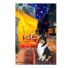 Cafe / Collie (tri) Postcards (Package of 8)