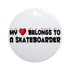 Belongs To A Skateboarder Ornament (Round)