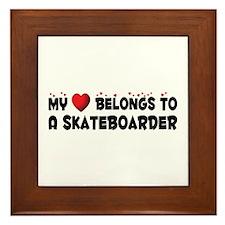 Belongs To A Skateboarder Framed Tile