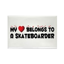 Belongs To A Skateboarder Rectangle Magnet