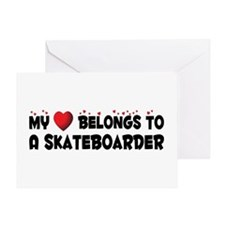 Belongs To A Skateboarder Greeting Card