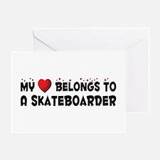 Belongs To A Skateboarder Greeting Card