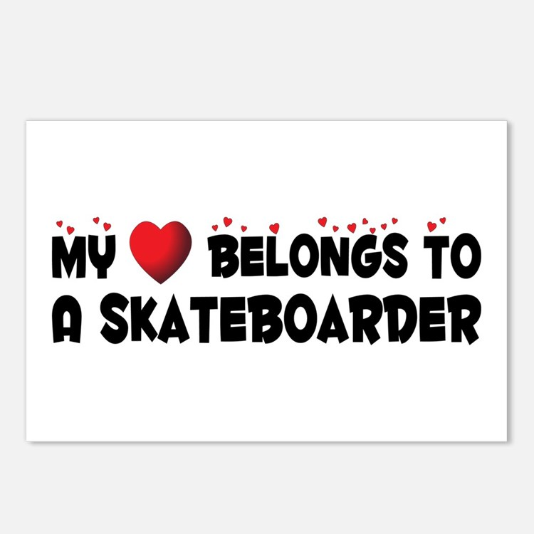 Belongs To A Skateboarder Postcards (Package of 8)