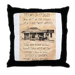 Judge Roy Bean Throw Pillow