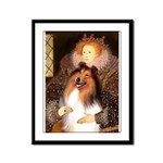 Queen / Collie (tri) Framed Panel Print