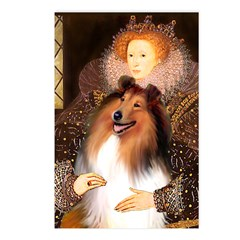 Queen / Collie (tri) Postcards (Package of 8)