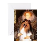 Queen / Collie (tri) Greeting Cards (Pk of 10)