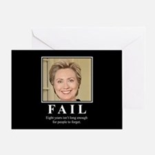 Hillary FAIL Greeting Card