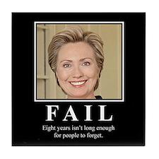 Hillary FAIL Tile Coaster