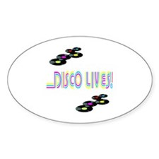 Disco Lives 2 Oval Decal