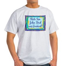 John Ford Framed Ash Grey T-Shirt