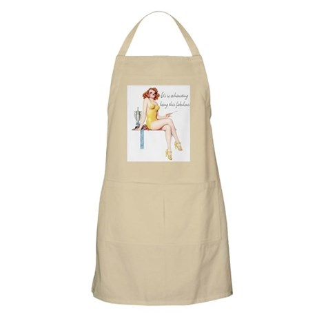 Exhausting Being Fabulous BBQ Apron