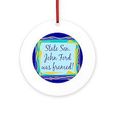 John Ford Framed Keepsake (Round)