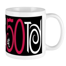 Fabulous at 50 Black Small Mugs