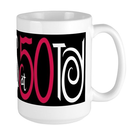 Fabulous at 50 Black Large Mug