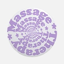 Purple Massage Ornament (Round)