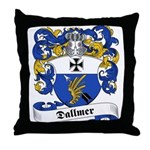 Dallmer Family Crest Throw Pillow