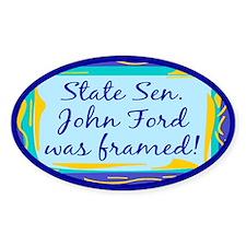 John Ford Framed Oval Decal