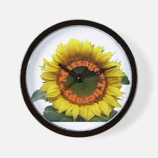 Massage Sun Flower Wall Clock