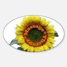 Massage Sun Flower Oval Decal