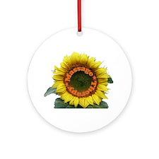 Massage Sun Flower Ornament (Round)