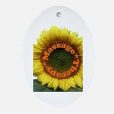 Massage Sun Flower Oval Ornament