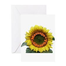 Massage Sun Flower Greeting Card