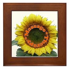 Massage Sun Flower Framed Tile