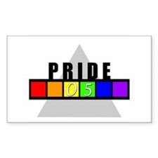 (Gay) Pride '05 Rectangle Decal