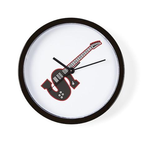 Electric Guitar S Custom Initial Wall Clock