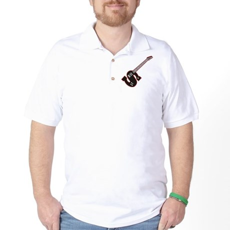 Electric Guitar S Custom Initial Golf Shirt