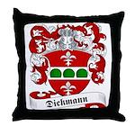 Dickmann Family Crest Throw Pillow