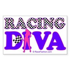 Racing Diva Y/G Rectangle Decal