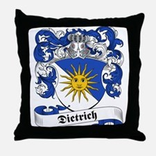 Dietrich Family Crest Throw Pillow