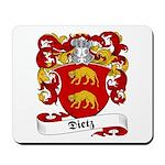 Dietz Family Crest Mousepad