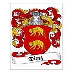 Dietz Family Crest Small Poster