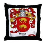 Dietz Family Crest Throw Pillow