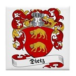 Dietz Family Crest Tile Coaster