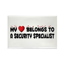 Belongs To A Security Specialist Rectangle Magnet